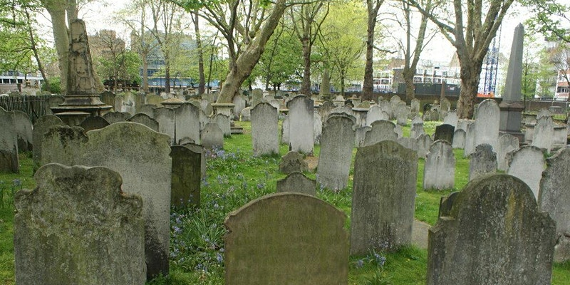 View of graves in Bunhill Fields
